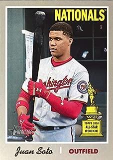 2019 Topps Heritage - Juan Soto - ROOKIE CUP ALL-STAR - SP SHORT PRINT - Washington Nationals Baseball Card #481