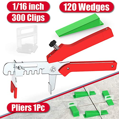 top 10 tile leveling systems Tile Leveling System YEFU 1/16 ″ kit contains 300 pieces. Tile spacers and 120 pieces. Reusable…
