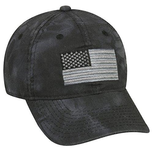 Los Ojos Ajustable Cierre Tonal Americano Bandera Tapa - USA-200, One Size,...
