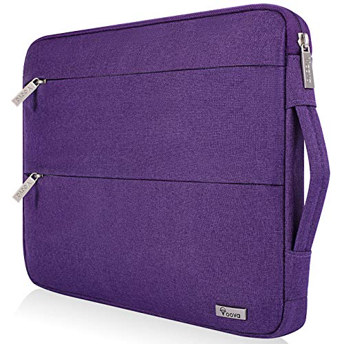 Voova 14-15.6 Inch Laptop Sleeve Case Slim Computer Carry Bag Compatible with MacBook Pro 15.4 16, 15 Surface Book 2/Laptop 3, Asus Acer Hp Chromebook, Waterproof Protective Cover for Women, Purple