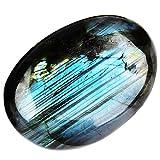 June&Ann pietre naturali di labradorite di palma, pietre curative per terapia, pietre di cristallo per meditazione Chakra bilanciamento, forma irregolare