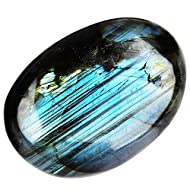 June&Ann Natural Labradorite Palm Stones, Healing Gemstone Therapy Worry Crystal Stones for Meditation Chakra Balancing Collection, Irregular Shape