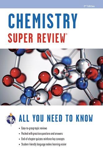 Chemistry Super Review Super Reviews Study Guides