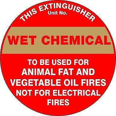 TNND Fire Safety Signs Extinguisher Id Wet Chemical Plaques and Signs Outdoor Aluminum Metal Sign 12X12 Inches