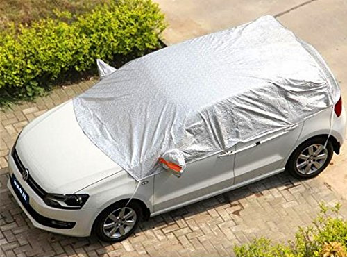 Safe View Half Car Cover Top Waterproof All Weather/Windproof/Dustproof/Windshield Cover Snow Ice...
