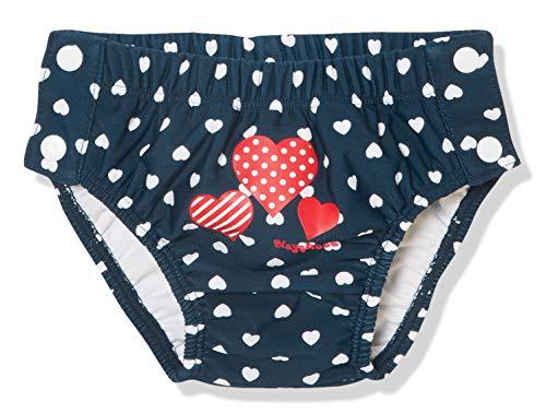 Playshoes Baby-Mädchen UV-Schutz Windelhose Herzen zum Knöpfen Schwimmwindel, Blau (Marine 11), (Herstellergröße: 74/80)