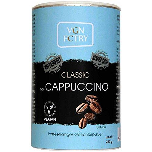 VGN FCTRY Instant Cappuccino Classic Koffeinfrei weniger Süß 280g Vegan