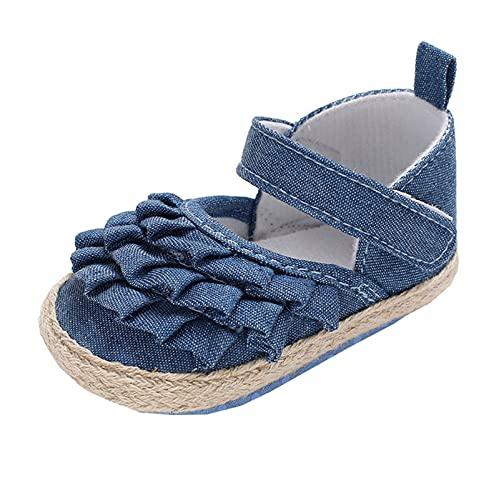 YWLINK Zapatos De Bebé,Zapatos Individuales,Zapatos para NiñOs PequeñOs Estampado De Flores De Encaje Calzado De Casa De Fondo Suave Zapatos De AlgodóN Antideslizantes Transpirables 0-18 Meses
