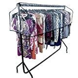 HANGERWORLD 6ft Clear Garment Rail Cover, Clothes Dust Protector Storage - Cover Only