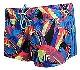 adidas - Shorts - para mujer Multicolor Blue-Yellow-Pink
