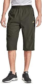 Men's Outdoor Sports Quick Dry 3/4 Capri Pants Hiking Shorts