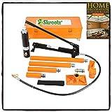 Skroutz 20 Ton Hydraulic Jack Air Pump Lift Porta Power Ram Repair Tool Kit Set W/Case, Orange or Red