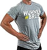 Satire Gym Fitness T-Shirt Herren - Funktionelle Sport Bekleidung mit Satire Charakter - Verschiedene Farben & Motive - Geeignet Für Workout, Training - Slim Fit (#Hühnerbrust grau, M)