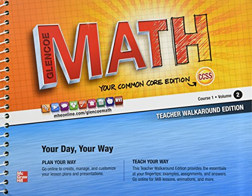 Glencoe Math Common Core, Course 1 Volume 2, Teacher's Edition