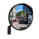RMAN® Espejo de tráfico de 30 cm de diámetro, para exteriores, convexo, impermeable, con soporte, ideal para garajes, patios, etc.