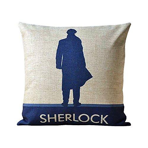 Bewährte Sherlock Holmes John Watson Dekoratives Kissen Fall 45,7x 45,7cm