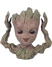 thematys® Baby Groot Maceta - Figura de acción para Plantas y bolígrafos de la película clásica - Perfecto como Regalo - Soy Groot