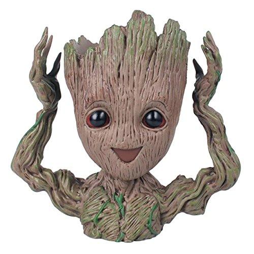 thematys Baby Groot Blumentopf - Innovative Action-Figur für Pflanzen & Stifte aus dem Filmklassiker I AM Groot (B) 15x19x8cm