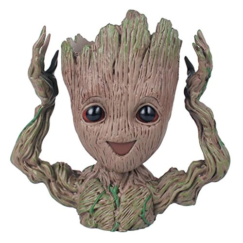 thematys® Baby Groot Maceta - Figura de acción para Plantas y bolígrafos de la película clásica - Perfecto como Regalo - Soy Groot (B)