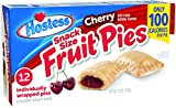 Hostess Mini Fruit Pies, Cherry, 12 Count (Pack of 6)