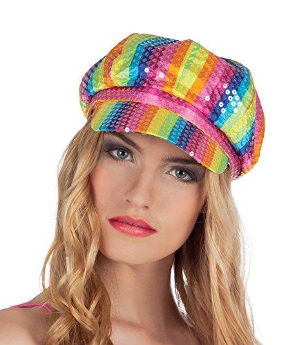Boland 01370 Lollipop Bonnet à paillettes Multicolore Taille unique