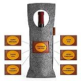Wine Bottle Gift Bag - Single Bottle Wine Tote Bags - Insulated Wine Bottle Carrier - Luxury Single Wine Gift Holder For Wine Lovers
