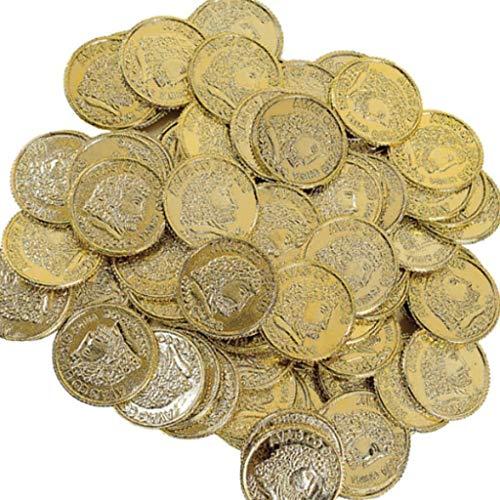 Elfen & Zwerge - Goldmünzen - Goldtaler für Piratenschatz - Schatz - Deko und Mitgebsel Kindergeburtstag - 144 Stück