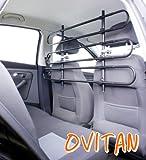 OVITAN Hundegitter XL fürs Auto 6 Streben universal zur Befestigung an den Kopfstützen der Rücksitzbank – für alle Automarken geeignet – Modell: H06XL - 6