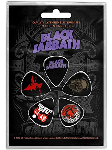 Black Sabbath Plektrum Set Ordinary Man 5 Plectrum Guitar Picks Gitarre Plektren Masters Of Reality 13 Flame