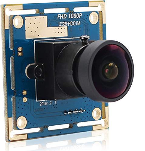 ELP CMOS OV2710 USB 2.0 ad alta velocità 30/60/100 fps grandangolo 170 gradi fisheye fotocamera USB 1080P USBFHD01M-L170