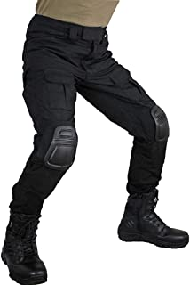 Men's Multicam Tactical Pants Multi-Pockets Military Camo Outdoor Airsoft Combat Hunting Pants with Knee Pads