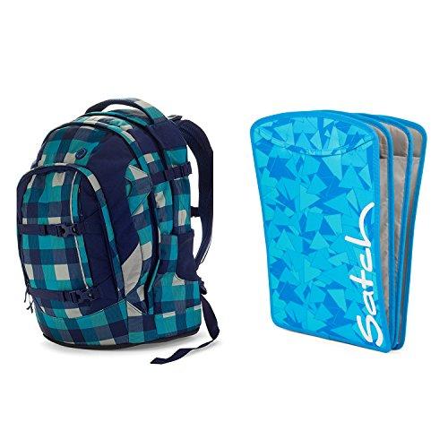 satch Pack Blister 2-teiliges Set Rucksack & Triple Flex blau