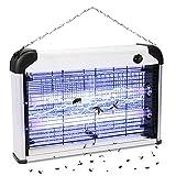 Lampe Anti Moustique 20W Tueur d'Insectes Moustiques Électrique Anti Insectes Répulsif, Destructeur d' Insectes Piège à Mouches Efficace Portée 50-80m² pour Maison Cuisine Jardin Bureau