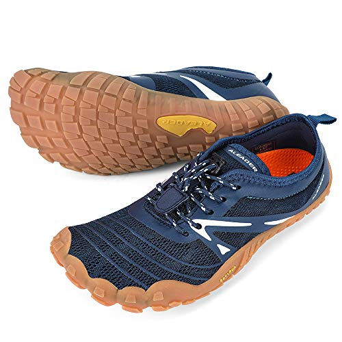 ALEADER Minimalist Running Shoes Womens Barefoot Cross Training Sneakers Navy 9.5 M US Women