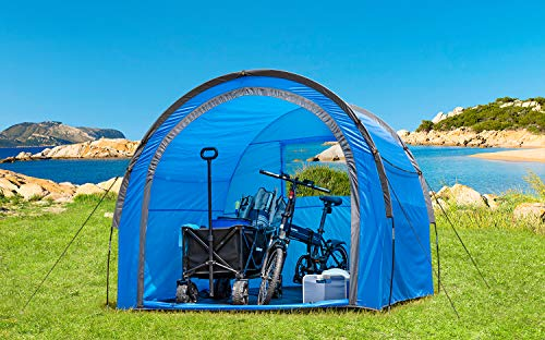 BERGER Toledo Universalzelt Gerätezelt Unterstand Fahrradgarage Zelt UV50 + Wassersäule 3000 mm