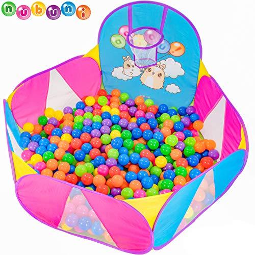 NUBUNI Piscina Palline Canestro Basket : Bambini Recinto per Bambini : Piscina di Palline per Bambini : Parco Giochi Bambini : Giochi Giardino : Palline Non Incluse