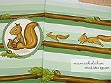 Jersey-Stoff mia&max #Green (0,45m / 1 Panel) Eichhörnchen