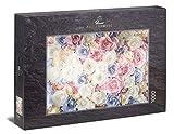 Ulmer Puzzleschmiede - Puzzle Amor de Rosa: Puzzle de 1000 Piezas - pétalos de Rosa Festivos en diseño Vintage