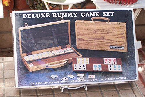 Deluxe Rummy with Wooden Racks in Attache Case