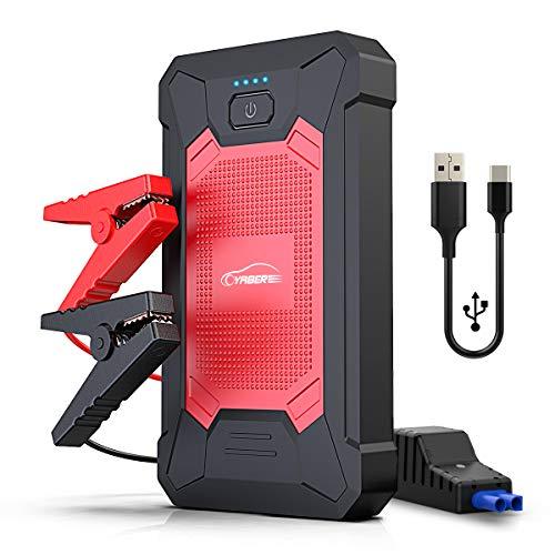 YABER Booster Batterie, 800A 12000mAh IP66 Étanche Booster de Batterie Voiture Moto (Jusqu'à 5,0L de Essence...