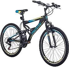 Merax FT323 Mountain Bike 21 Speed Full Suspension Aluminum Frame MTB Bicycle - 26 inch (Blue)