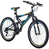 Merax FT323 Mountain Bike 21 Speed Full Suspension Aluminum Frame MTB Bicycle - 26 inch (Blue)