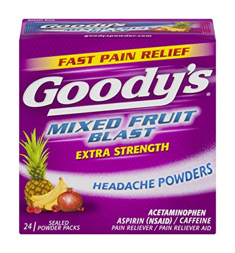 Goody's Extra Strength Headache Powders | Mixed Fruit Blast | 24 Count