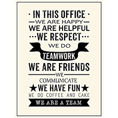 Inspirational Quotes We Are A Team Posters Prints Motivational Motto Wall Art Decor Office Teamwork Hanging Printing (17.72'' x 23.62'')