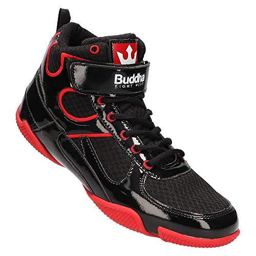 Buddha Fight Wear Zapatos de Boxeo One Negros