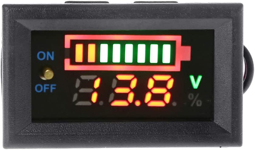 CHBC 12V Car Lead Acid Battery Capacity Indicator Voltmeter Power Tester with Switch