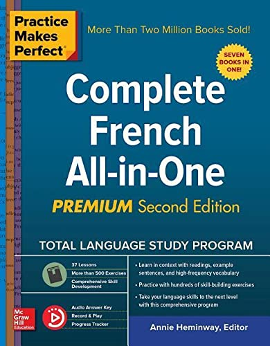 Compare Textbook Prices for Practice Makes Perfect: Complete French All-in-One, Premium Second Edition 2 Edition ISBN 9781260121032 by Heminway, Annie