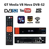 GTMedia V8 Nova Receptor de Satélite DVB S2 Support 1080P Full HD PowerVu Biss chiave Set Top Box, con Built-in WiFi