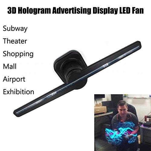 tpulling 3d led holográfica Proyección Ventilador Fan 481048–Imágenes 3d Naked Eye LED Fan