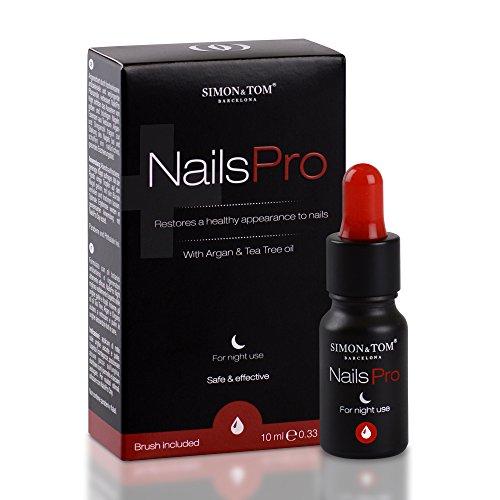 Simon & Tom - NailsPro Night. Soluzione antifungina naturale concentrata contro le infezioni fungine delle unghie e delle mani. 10 ml